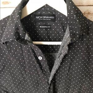 Other - Nick Graham black and white polka dot long sleeve